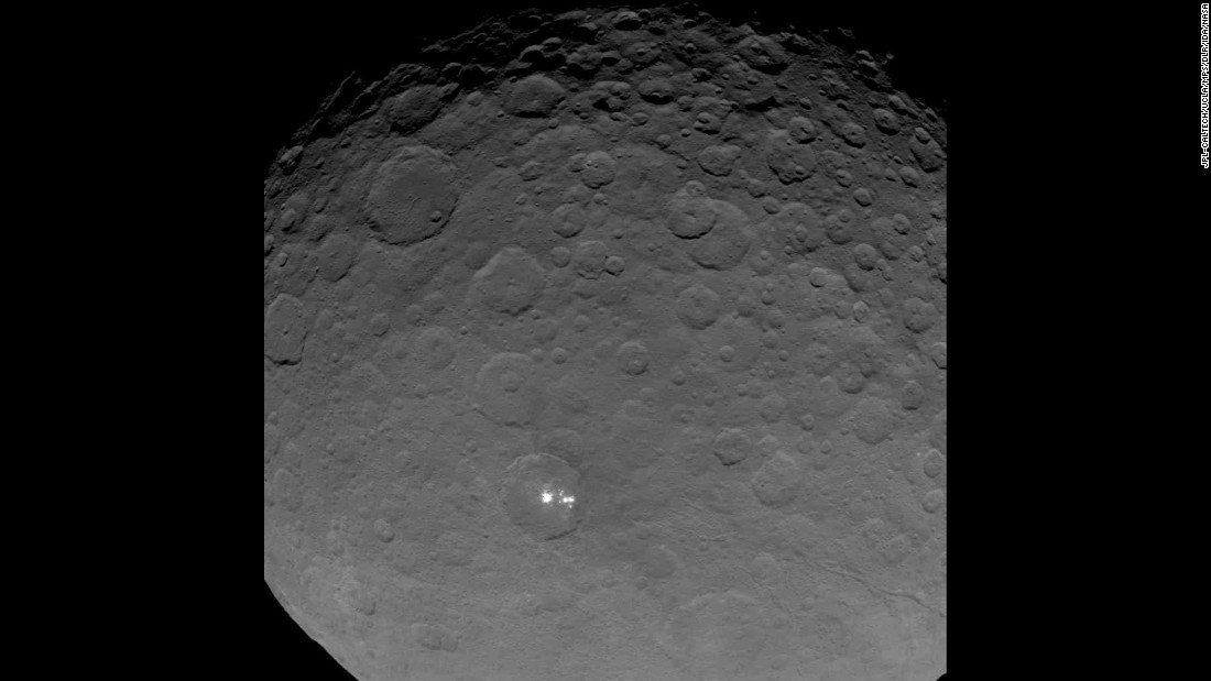 "Contrary to the humor and crass self-marketing in this post, the ""glowing"" spots on Ceres are most likely just reflective ice."