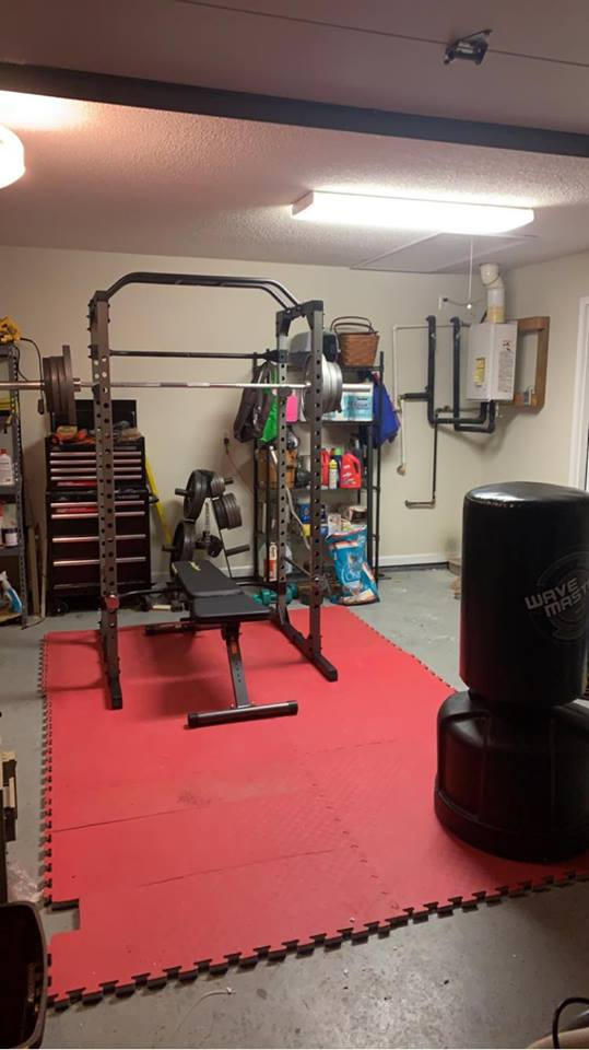 The Fitness Reality 810XLT Super Max Power Cage installed in my garage.